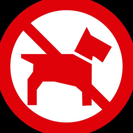 Prohibido el paso con perros y otros animales de compañia