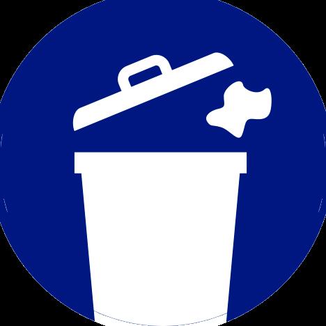 Deposite la basura en contenedores
