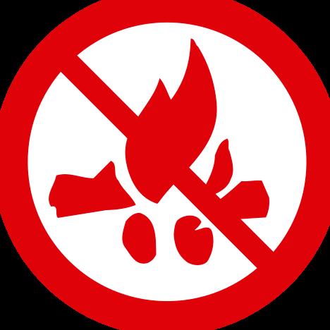 No se permite encender fuego