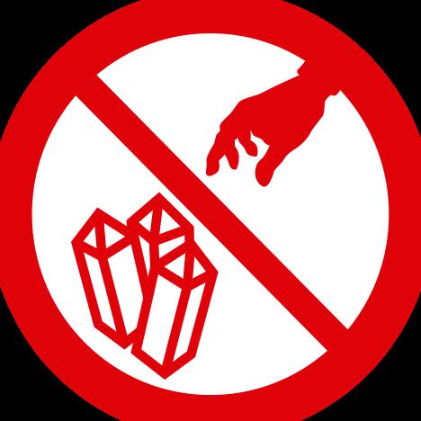 No se permite la recolección de minerales y rocas