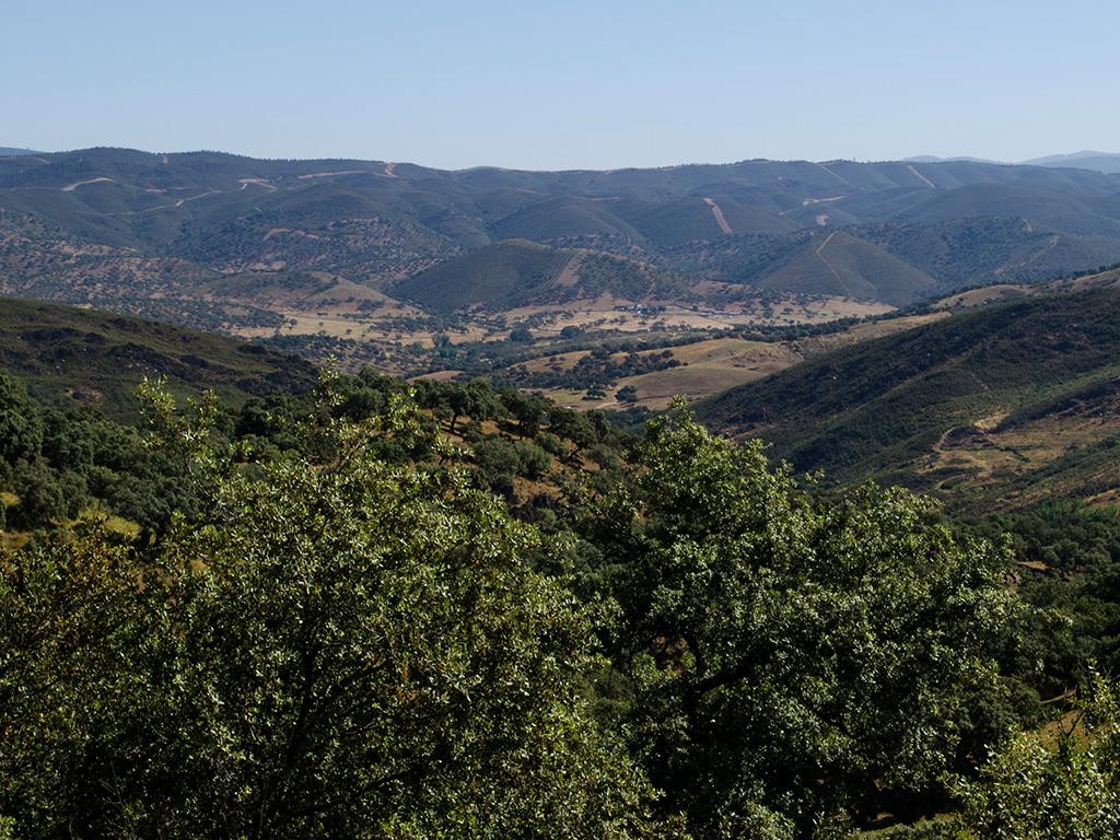 Vistas hacia el valle de las Buervas desde el Alto de la Barquera.