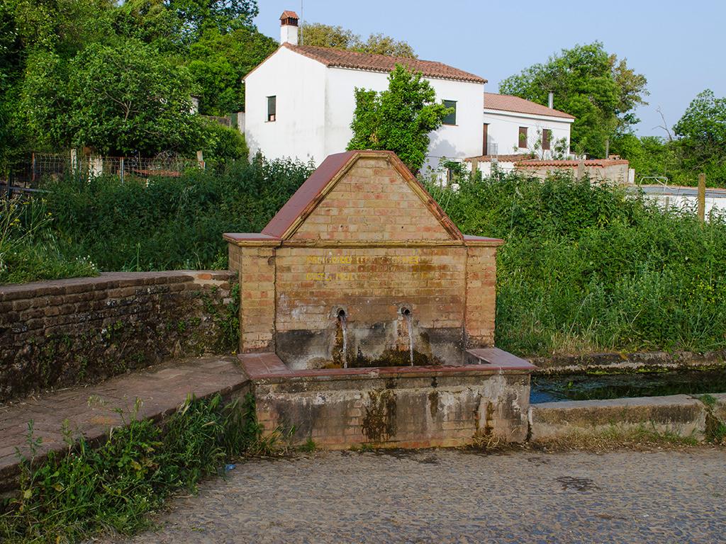 Fuente junto al camino de Cortegana a Aroche.