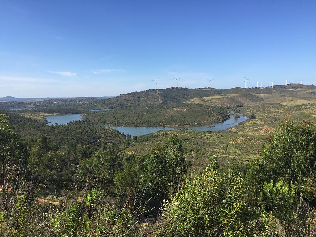 Rivera de la Viguera-Embalse del Andévalo (desde la cumbre del Guapero)